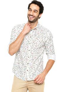 Camisa Colcci Slim Estampada Branca