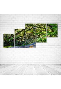 Quadro Decorativo - Florida - Composto De 5 Quadros - Multicolorido - Dafiti