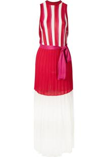 Eva Vestido De Tricô Saia Plissada - Estampado