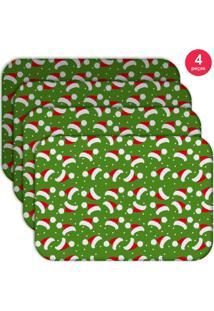Jogo Americano Love Decor Wevans Multi Tocas Natal Kit Com 4 Pçs