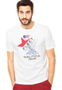 Camiseta Nautica Classic Fit Fleet Branca