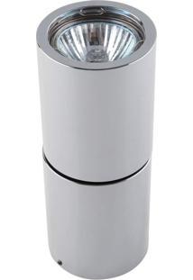 Spot Sobrepor Redondo Alumínio 16Cmx6Cm 50W Cromado Bella Iluminação Bivolt Gu10