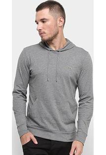 Camiseta Lacoste Capuz Masculina - Masculino-Cinza