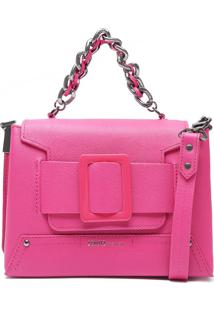 Bolsa Maxi Fivela Neon Pink | Schutz