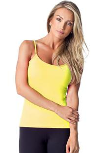 Regata Com Tag- Amarelo Neon- Vestemvestem