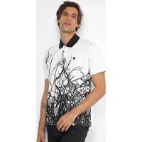 2ee76699be Camisa Polo Cavalera Piquet Estampada Galhos - Masculino