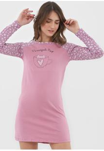 Camisola Hering Curta Corações Rosa
