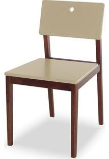 Cadeira Flip Cor Cacau Com Bege