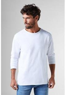 Camiseta Pf Crepe Ml Reserva Masculina - Masculino-Branco