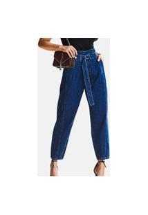 Calça Jeans Gliss Baggy Azul