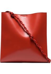Jil Sander Twist Strap Shoulder Bag - Vermelho