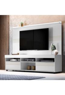 Rack Com Painel Para Tv Até 60 Polegadas Samba Siena Móveis Branco