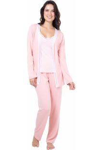 293bbde416af06 Pijama Viscolycra Homewear Rosa - 589.0713 Marcyn Lingerie Pijamas Rosa