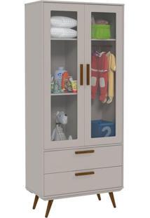 Guarda Roupa Infantil Retro Glass 2 Portas Cinza Eco Wood – Matic