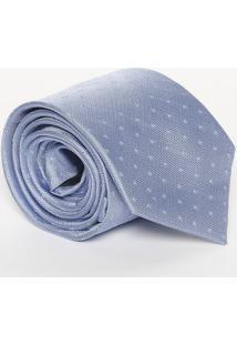 Gravata Em Seda & Poás - Azul Claro - 8X148Cmcalvin Klein