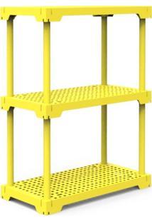 Estante Poly Com 3 Prateleiras Amarelo