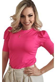 Blusa Manga Curta Princesa Pink - Pink - Feminino - Dafiti