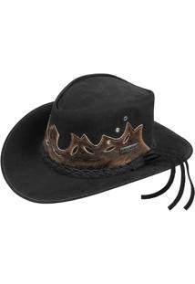 Chapéu De Couro Legitimo Largadão Modelo Australiano - Masculino