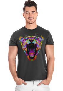 Camiseta Onça Stampaholics Cinza