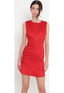 Vestido Liso Com Recorte - Vermelho - Alexandre Hercalexandre Herchcovitch