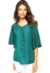 Camisa Enfim Manga Ampla Verde