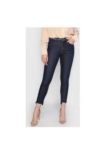 Calça Jeans Calvin Klein Jegging Assimétrica Azul