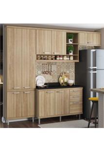 Cozinha Completa Multimóveis Com 5 Peças Sicília 5841 Argila/Argila