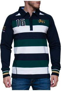 Blusa Kevingston Stockport Rugby Verde Listrado
