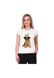 Camiseta Criativa Urbana Pet Lover Yorkshire Branco