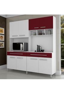 Cozinha Paris 8 Portas Branco/Vinho - Fama Móveis