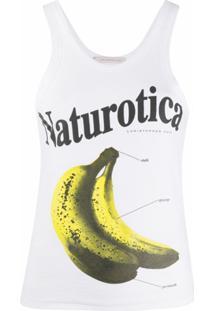 Christopher Kane Blusa Naturotica Sem Mangas Com Estampa De Bananas - Branco
