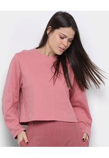 Blusa Osklen Rustic Cool Shape Feminina - Feminino-Rosa