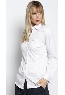 6075a5e985 ... Camisa Cetim Super Poás Em Algodão Egípcio - Branca   Vedudalina