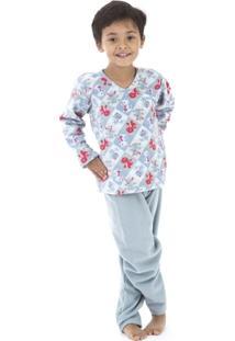 Pijama Longo Inspirate Soft Dinossauros - Masculino