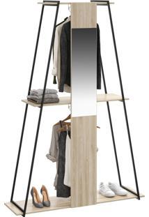 Closet Tog 2 Cabides Com Espelho Aveiro - Bentec