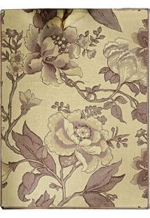 Tapete Andino Floral Iii Retangular Polipropileno (65X40) Tabaco