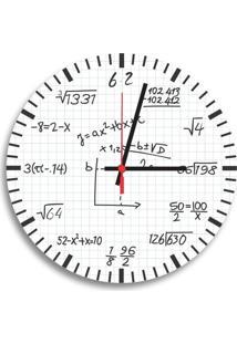 Relógio De Parede Decorativo Equações Matemáticas Único