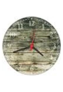 Relógio De Parede Madeira Rústico Decorações Salas Cozinhas Gourmet