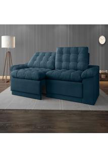 Sofã¡ 4 Lugares Net Confort Assento Retrã¡Til E Reclinã¡Vel Royal 2,20M (L) - Azul - Dafiti