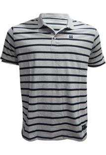 Camisa Polo Oakley Striped Patch - Masculino