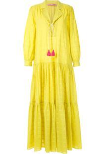 Clube Bossa Vestido Longo Blandine - Amarelo