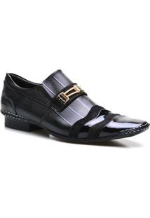 Sapato Social Masculino Verniz Calvest - Masculino-Preto