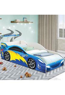 Cama Carro Solteiro Azul Casah