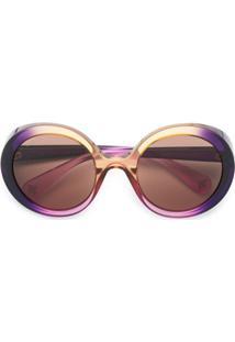 Gucci Eyewear Óculos De Sol Degradê - Roxo