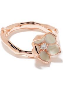 Shaun Leane Anel Cherry Blossom Com Flor De Diamante - Rose Gold Vermeil