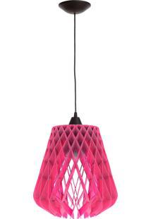 Luminária De Teto Dali Lâmpada Led 40 Watts - Preto/Rosa - Multistock