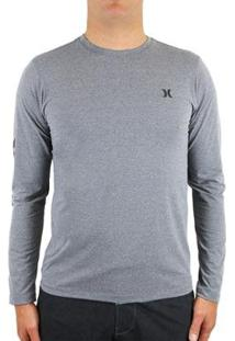 Camiseta Hurley Strong Masculina - Masculino-Cinza