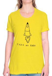 Fogo No Rabo - Camiseta Basicona Unissex