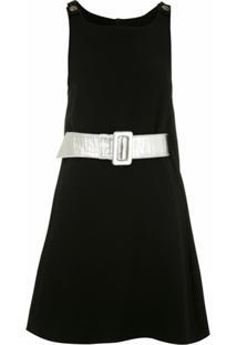 Andrea Bogosian Vestido Pullover Couture Com Cinto - Preto