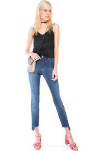 Calça Jeans Emana Recorte Azul